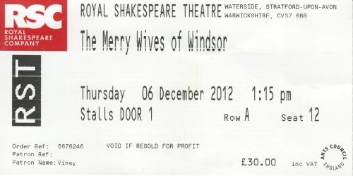 Merry wives ticket