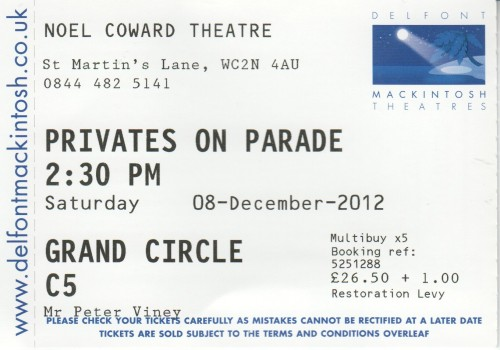 Privates on Parade ticket
