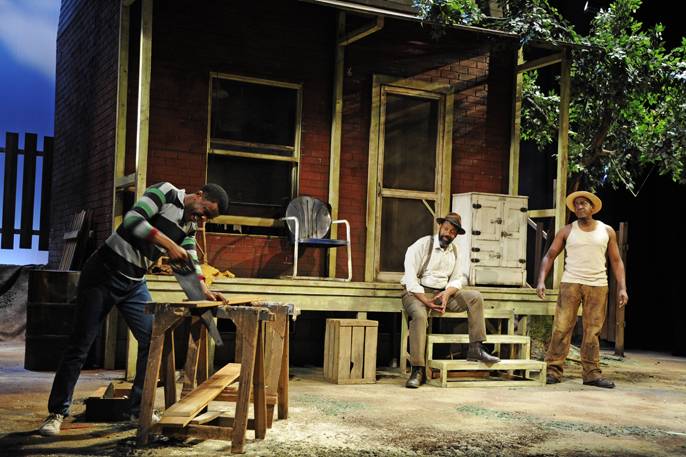 fences play set. the set of house is excellent but some things fail sawing scenes cutting wood for fence are being complimented if they described as u201c fences play c