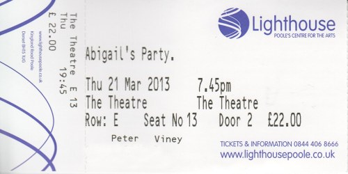 Abigail's party tickety