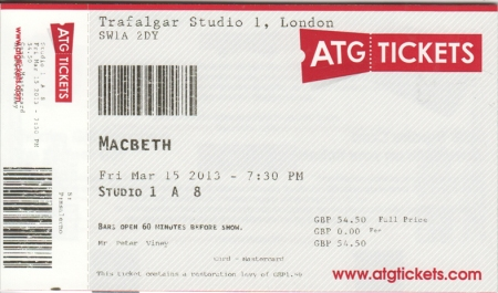 Macbeth ticket