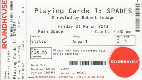 Playing Cards ticket
