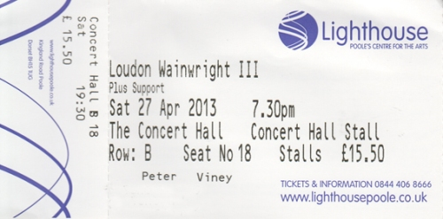 Loudon WIII ticket
