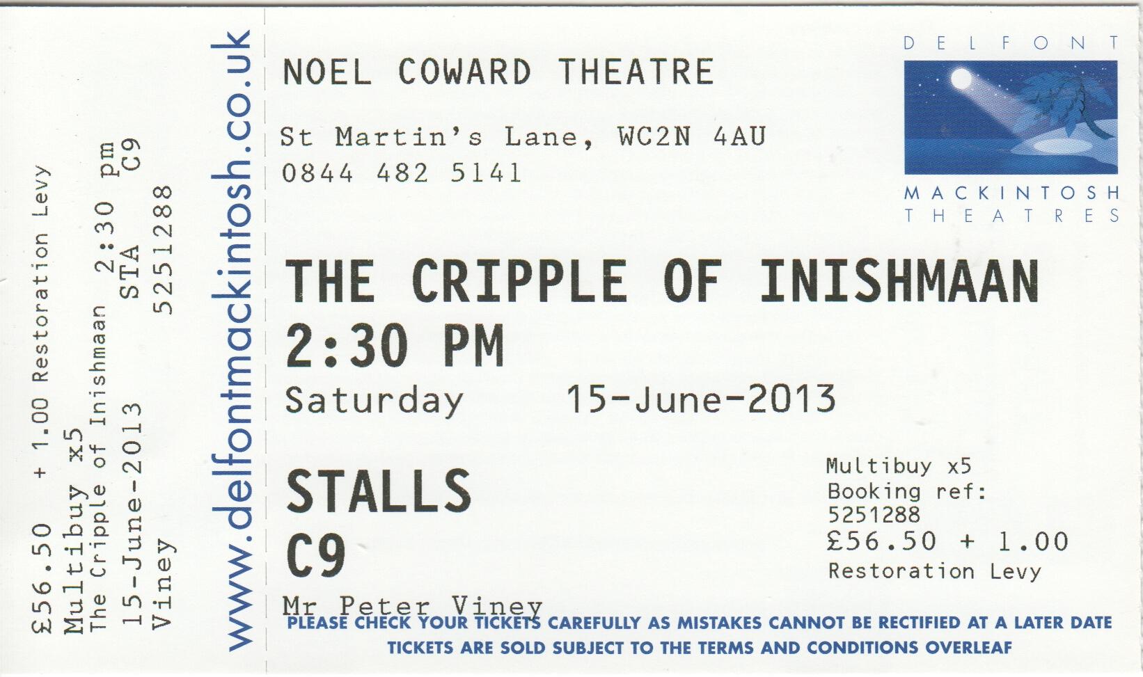 the cripple of inishmaan analysis
