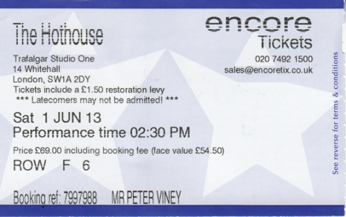 Hot House ticket