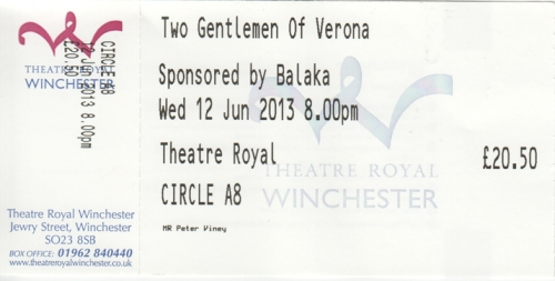 Two Gent of Verona ticket