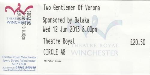 Two Gent of Verona ticket