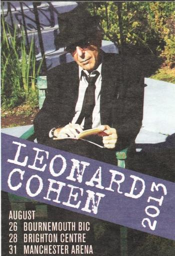 Leonard Cohen 2013 ad