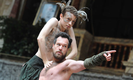 A Midsummer Night's Dream performed at the Globe Theatre