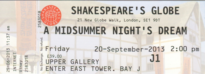 Midsummer Globe ticket