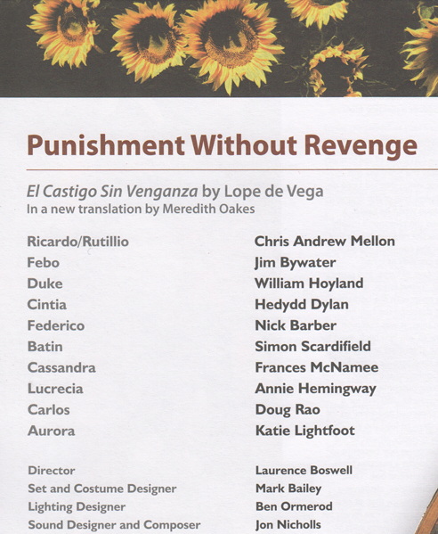 Punishment without revenge cast