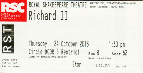 Richard II ticket
