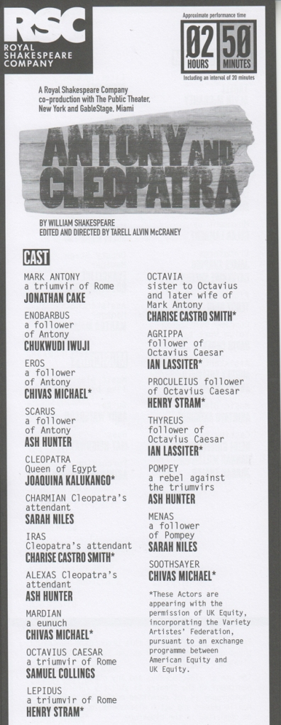 Antony & Cleo cast