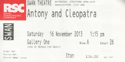 Antony & Cleo RSC ticket