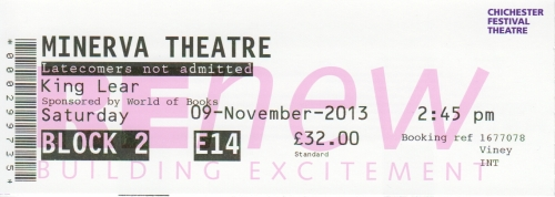 King lear Minerva ticket