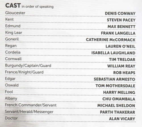 Lear cast