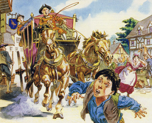 The sumptuous carriage of the Marquis St Evremonde hits a small child