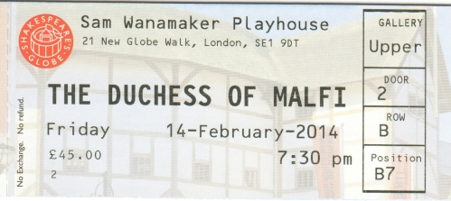 Duchess of Malfi ticket