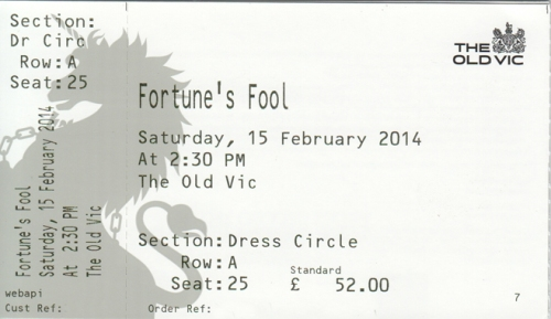 Fortunes Fool ticket