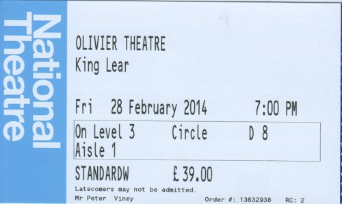King Lear tickt NT