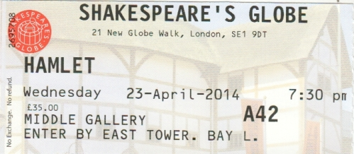 Hamlet Globe ticket