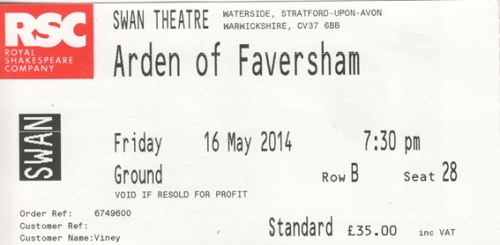 Arden of Faversham ticket