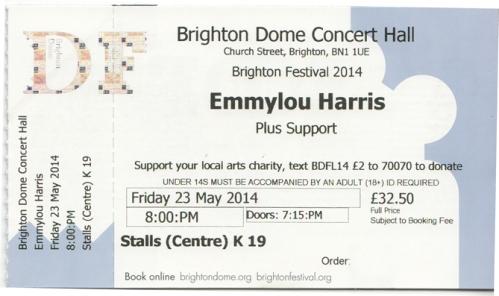 Emmylou ticket