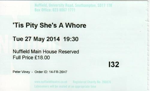 Tis Pity ticket
