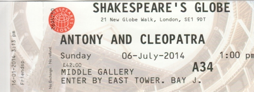 Antony & Cleo ticket globe
