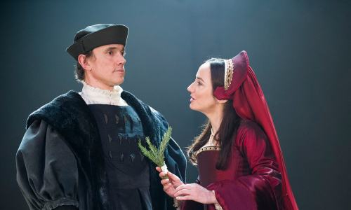 Ben Miles as Thomas Cromwell and Lydia Leonard as Ann Boleyn