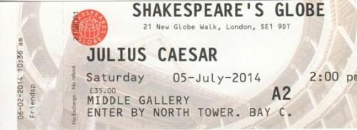 Julius Caesar ticket