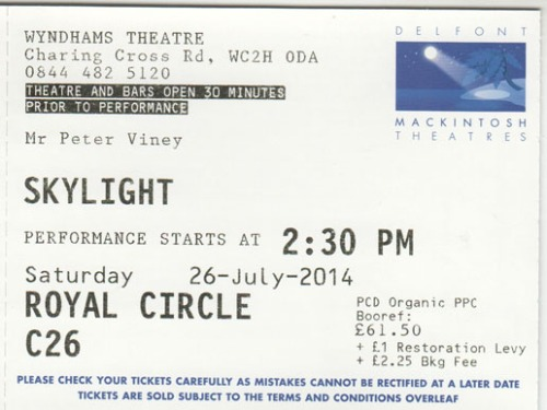 Skylight ticket