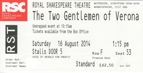 Two Gents ticket