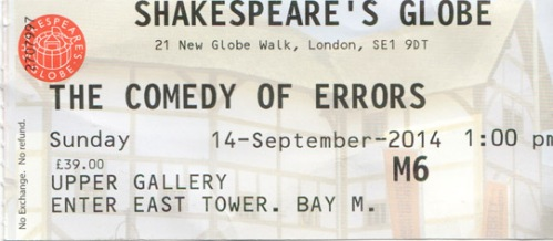 Comedy of Errors globe tick