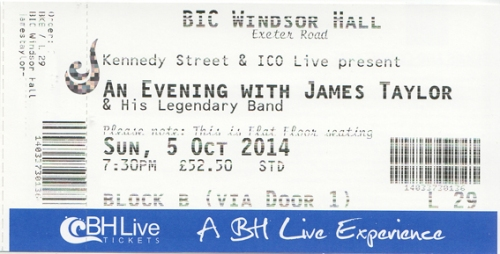 James Taylor ticket