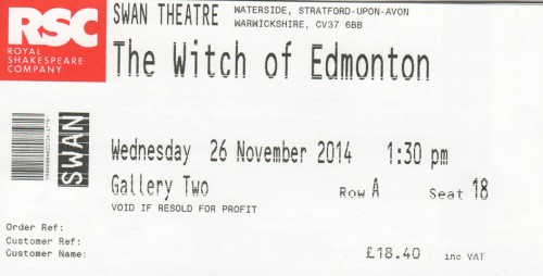 Witch of Edmonton ticket