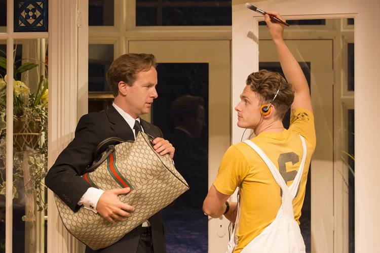 Geoffrey Streatfeild Daniel and Lewis Reeves Eric in My Night With Reg Photo by Johan Persson