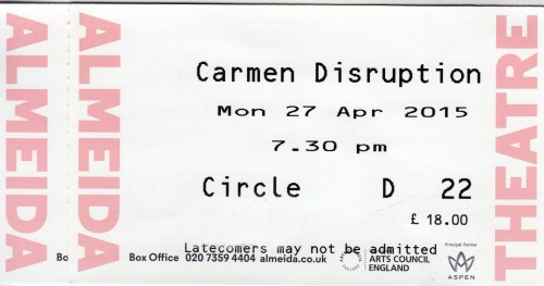 Carmen Disruption ticks