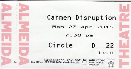 Carmen Disruption ticks