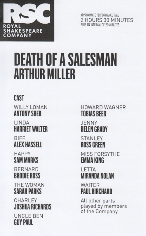 Death of A Salesman cast