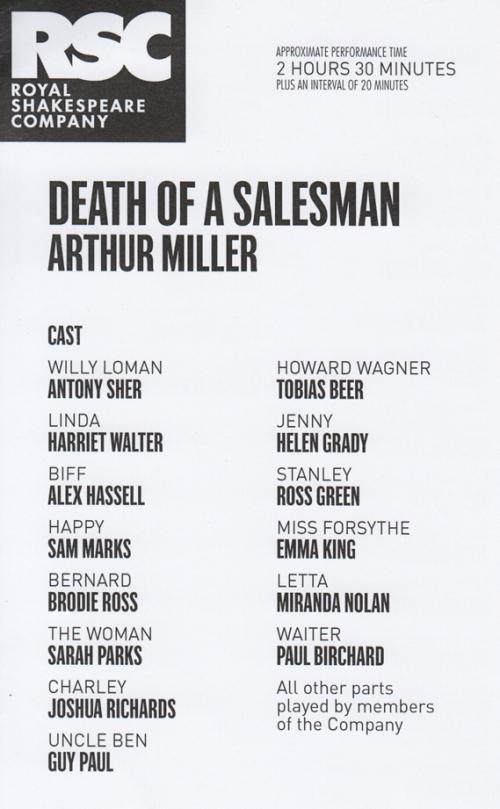 Death of A Salesman cast