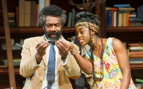 Educating Rita performed at the Minerva Theatre Lenny Henry as Frank,  Lashna Lynch as Rita ©Alastair Muir 22.06.15