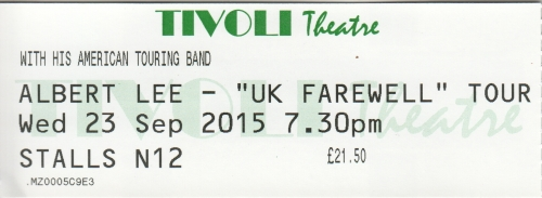 Albert Lee ticket
