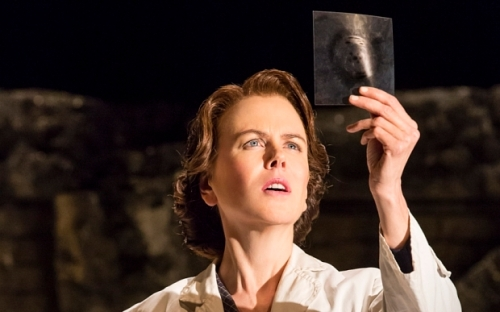 First image of Nicole Kidman as pioneering DNA scientist Rosalind Franklin in her return to the london stage in the play 'Photograph 51' Credit Johan Persson