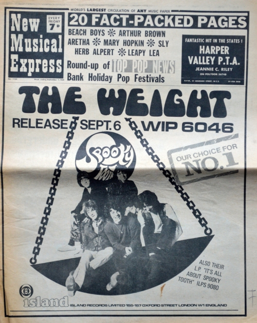 The weight Spooky Tooth NME7.9.68