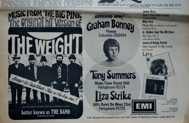 The Weight The Band NME7.9.68