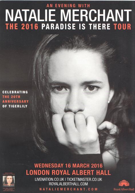 Natalie Merchant flier