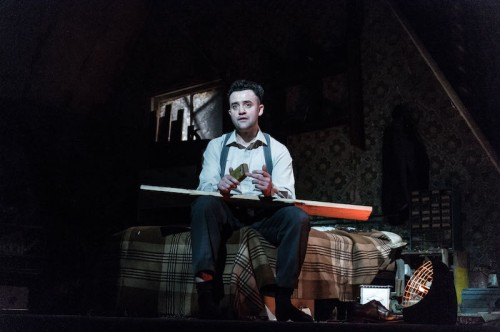 Daniel Mays (Aston) in The Caretaker at The Old Vic. Photo by Manuel Harlan.