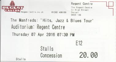 Manfreds 2016 ticket