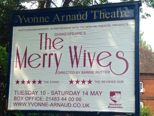 Merry Wives sign